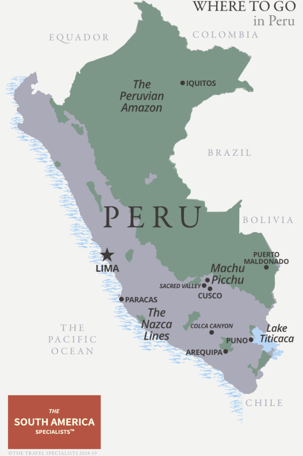 Where to go in Peru map