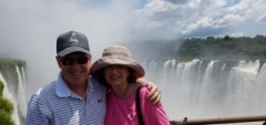 Mark and Shelley at the Iguazu Falls
